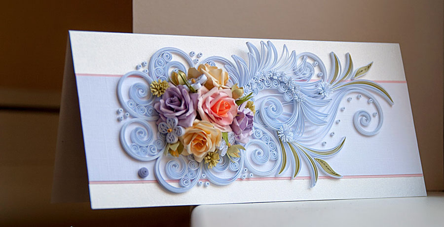 Поздравления, открытки свадьба квилинг