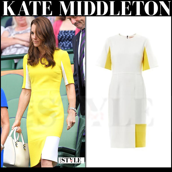 4  kate middletoni in yellow colorblock dress wimbledon july 7 2016 what she wore.jpg