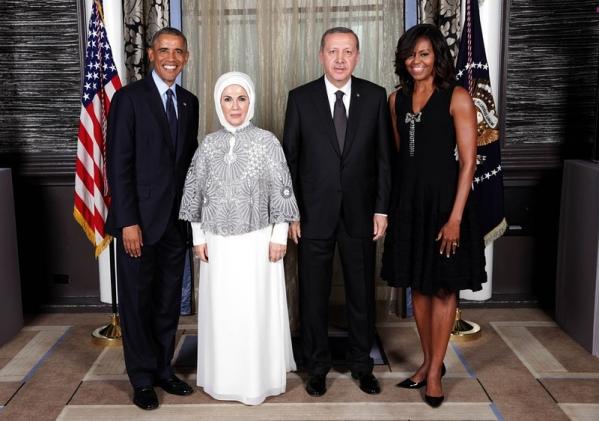 жена эрдогана без платка фото