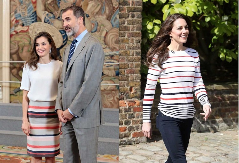 Политические разборки на модном уровне. 4 kate-middleton-queen-letizia-stripes.jpg
