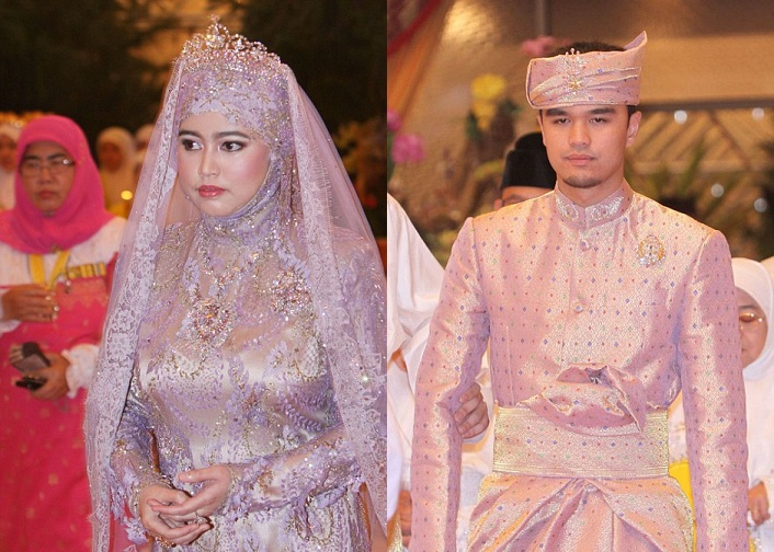 9 Royal-WeddingPrincess Hafizah Sururul Bolkiah and groom Pengiran Haji Muhammad Ruzaini.jpg