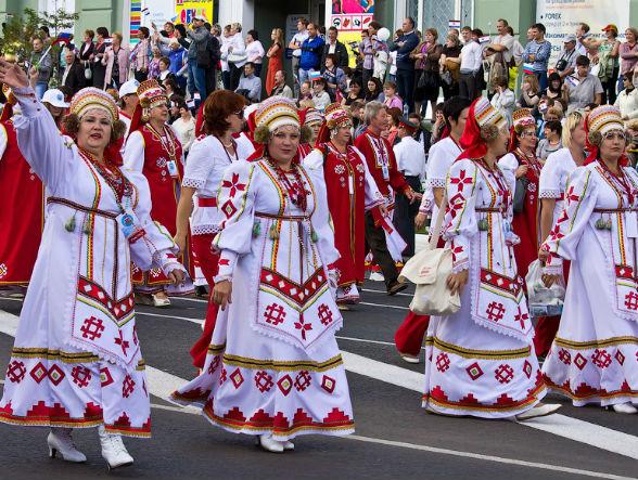 Карнавальное шествие пройдет в Саранске 16 июня перед матчем Чемпионата мира по футболу FIFA 2018 в России между сборными Дании и Перу..jpg