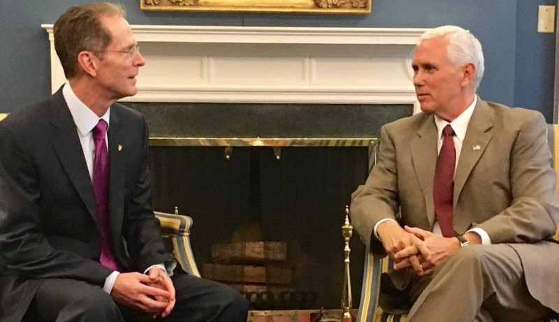 10  Mearns met with Vice President Mike Pence at the White House while in Washington DC meeting BSU alumni.jpg