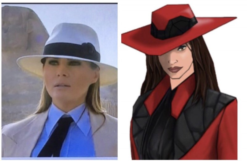 Day 6 Who wore it better -Melania or Carmen Sandiego.jpg