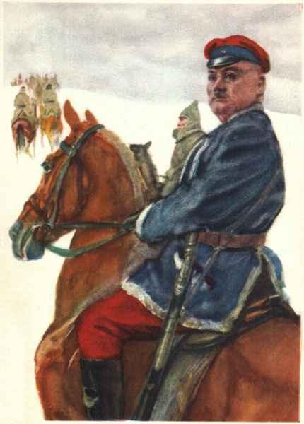 1961  Домогацкий  Григорий Котовский на открытке ИЗОГИЗ, СССР 1961.jpg