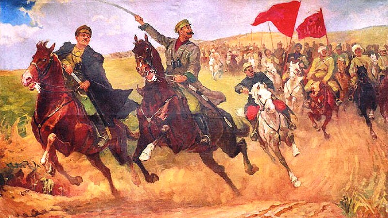 1940  Авраам-Ицка Ельович Варшавский. Наступление кавалерии. 1940.jpg