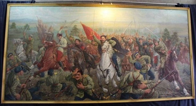 1937  Сергей Богаткин, Чапаев в бою, 1937 Музей Чапаева в городе Чебоксары.jpg