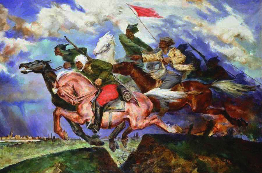 1929  П. П. Соколов-Скаля, Даёшь Варшаву! 1929 г. (Государственный центральный музей современной истории России).jpg