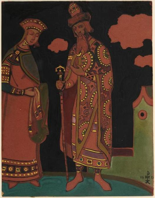 1921  painting_id1728-NKR_Eskiz_kostyumov_Snegurochki_i_Carya_Berendeya_(Snegurochka_i_Berendey) (2).jpg