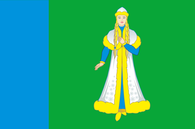 Флаг Островского района Костромской области, Россия.jpg