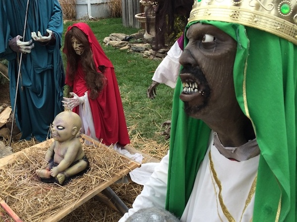 11  A zombie Nativity in Sycamore Township, Ohio, has caused considerable controversy, according to creator Jasen Dixon. Vandals trashed his Christma…