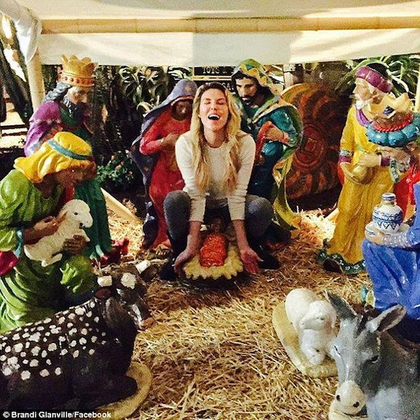 18  The Real Housewives of Beverly Hills star Brandi Glanville courted controversy after sharing a suggestive Nativity scene to social media..jpg