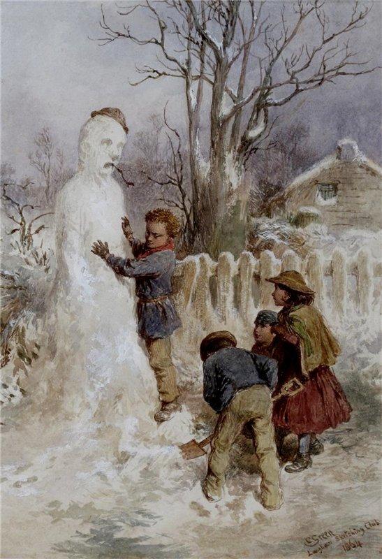 1870 Чарльз Грин Снеговик, 1870-е..jpg