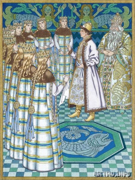 1931 Билибин И.Я. Иллюстрация для Водяного царя и Василисы Премудрой..jpg