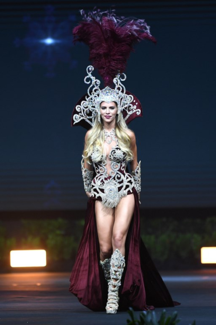 Argentina the crystal-encrusted garb is based on the country's national flower...jpg