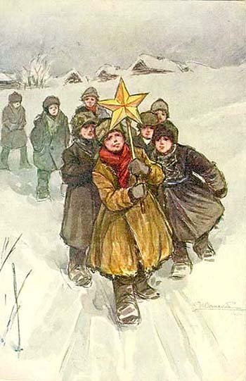 1910  Н.В.Симаков Славильщики СПб.Община Св. Евгении Красного Креста, 1910 - 1911.jpg