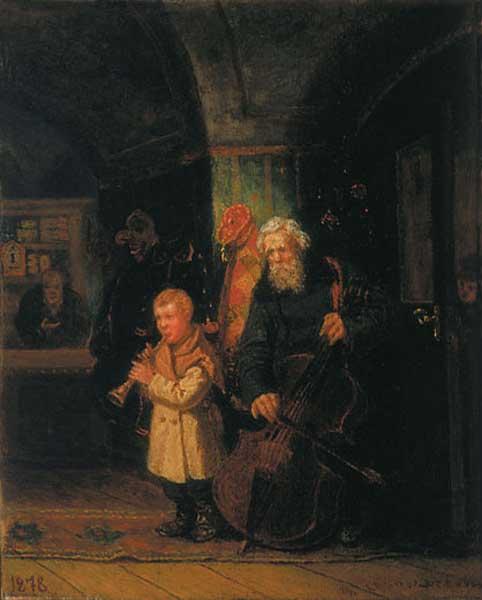 1878  В погребке на святочной неделе. Соломаткин Леонид Иванович (1837–1883). 1878 16.jpg