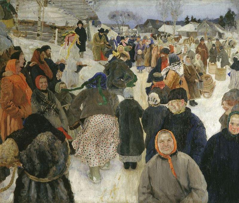 1906 Ряженые в деревне Горелов Гавриил Никитич. Холст, масло Одесский художественный музей.jpg