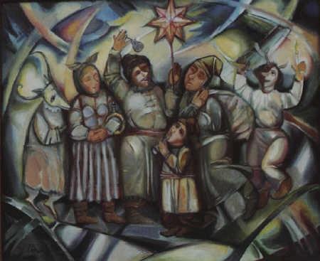 Гринюк Леонтий Назарович (Украина, род. 1950) Колядники. 1998 г..jpg