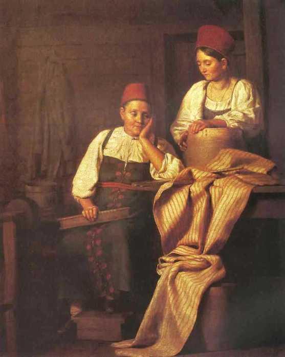 1826 Тыранов Алексей Васильевич «Ткачихи» 1826 Государственная Третьяковская галерея.jpg