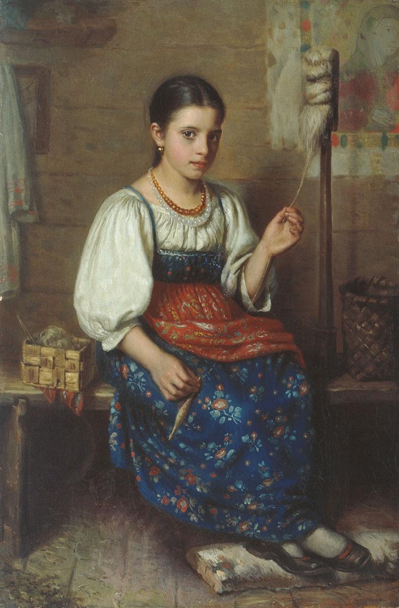 1870-e Дубовской Николай Никанорович Пряха Алтайский краевой музей изобразительных и прикладных искусств, Барнаул.jpg