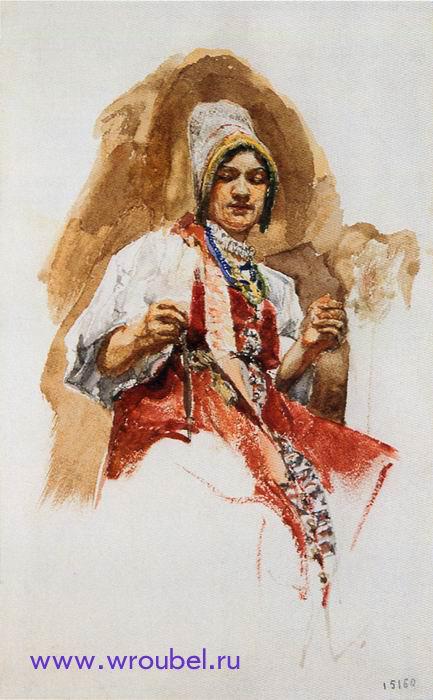 1883 Врубель Михаил Александрович. Пряха. Государственный Русский музей.jpg