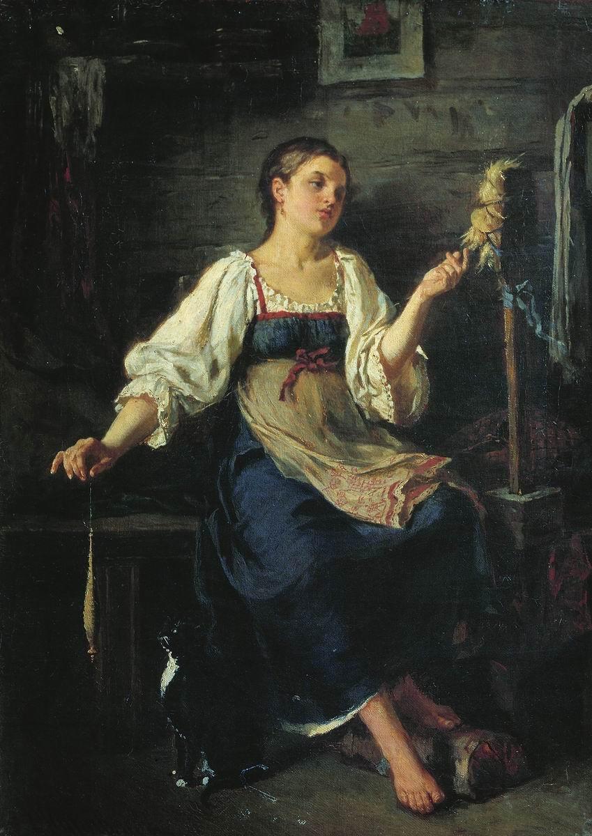 1884 Журавлев Фирс Сергеевич Пряха Одесский художественный музей.jpg