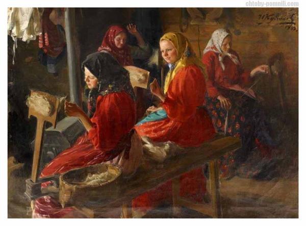 1903 «Пряхи» Куликов Иван Семёнович Ярославский художественный музей.jpg