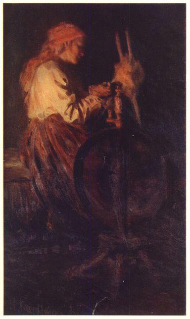 1904 Пряха. Касаткин Николай Алексеевич 1904 г. Государственный Русский музей.jpg