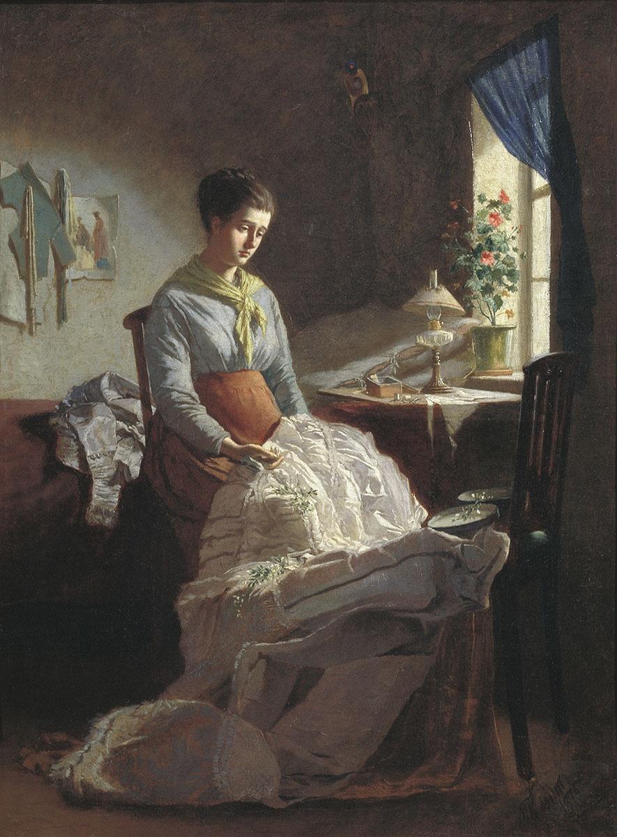 1875 Клодт Михаил Петрович Швея Государственный Русский музей.jpg