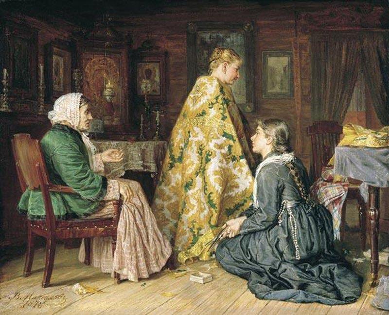 1878 Василий Максимов Примерка ризы. 1878 г..jpg