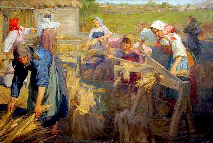 1905 Ф.В. Сычков Мяльщицы льна ,1905.jpg