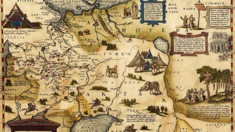 Карта Руси и Средней Азии, 1602 г..jpg