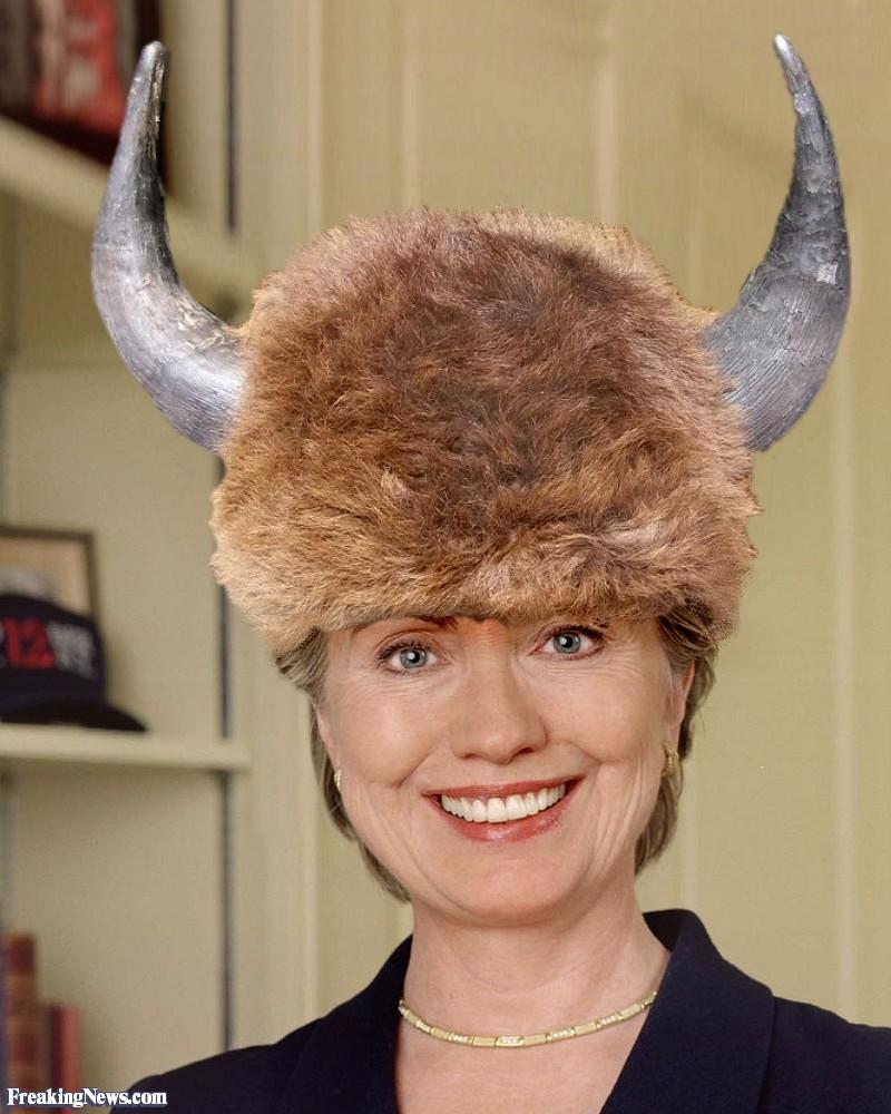 _Hillary Clinton Wearing a Buffalo Hat.jpg