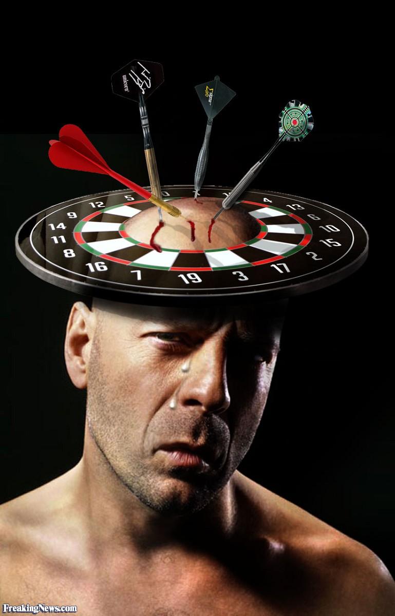 Bruce Willis Wearing a Dart Board Hat.jpg