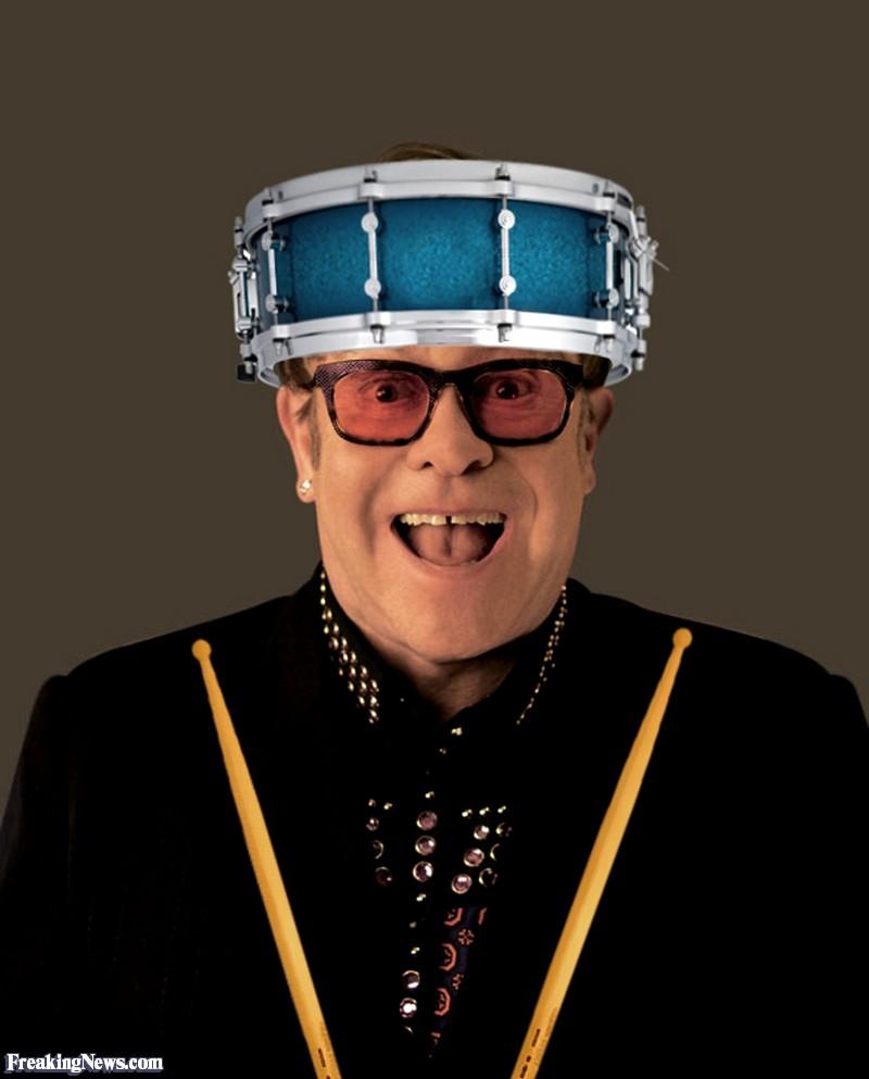 Elton John Wearing a Drum Hat.jpg
