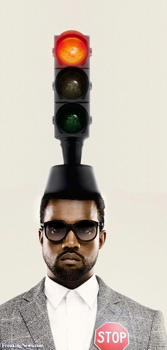 Kane West Wearing a Traffic Light Hat.jpg