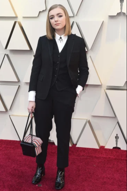 Elsie Fisher in in Thom Browne a tuxedo.PNG