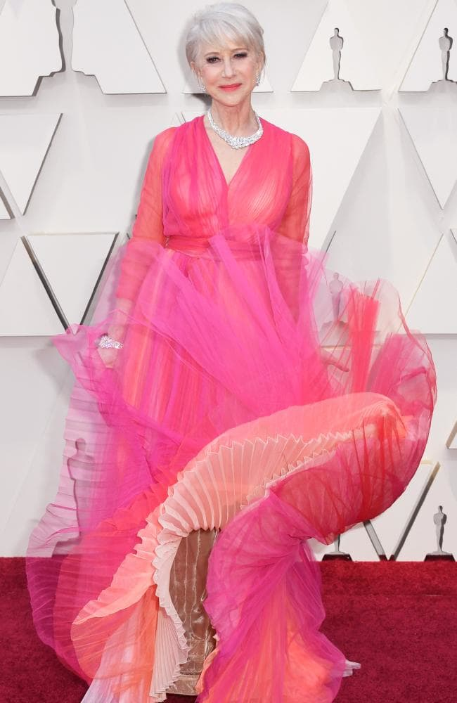 Helen Mirren's Marilyn moment (the pink edition). Picture Frazer HarrisonGetty ImagesSourceGetty Images.jpg
