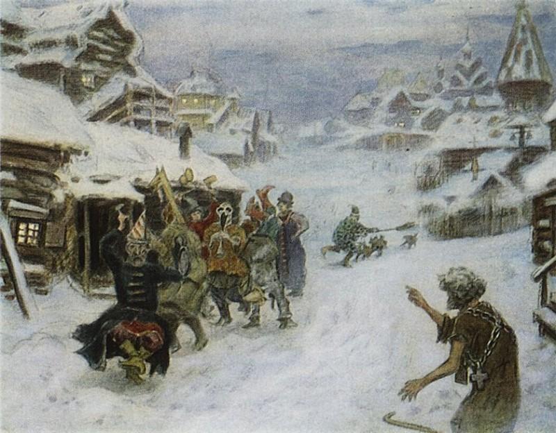 1904  Аполлинарий Михайлович Васнецов Скоморохи.jpg