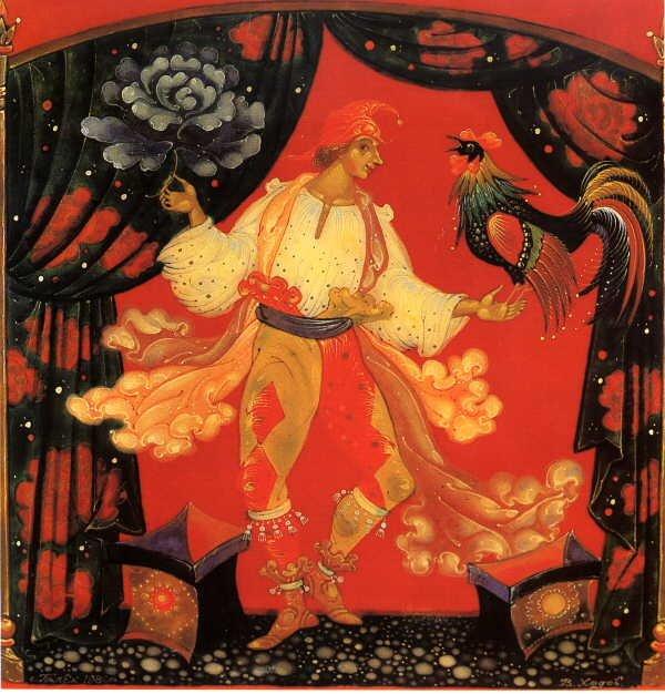 1980  Валентин Ходов - Кукольники (палех) Русские потешники. Ларец, боковая сторона. 1980..jpg