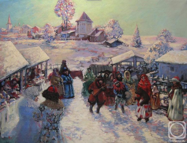 2008    Рябчиков Владимир Васильевич Скоморохи..jpg