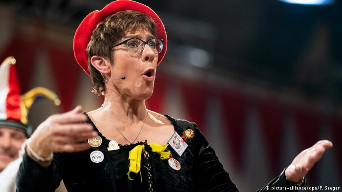 Annegret Kramp-Karrenbauer Merkel successor Kramp-Karrenbauer under fire for anti-LGBT joke.jpg