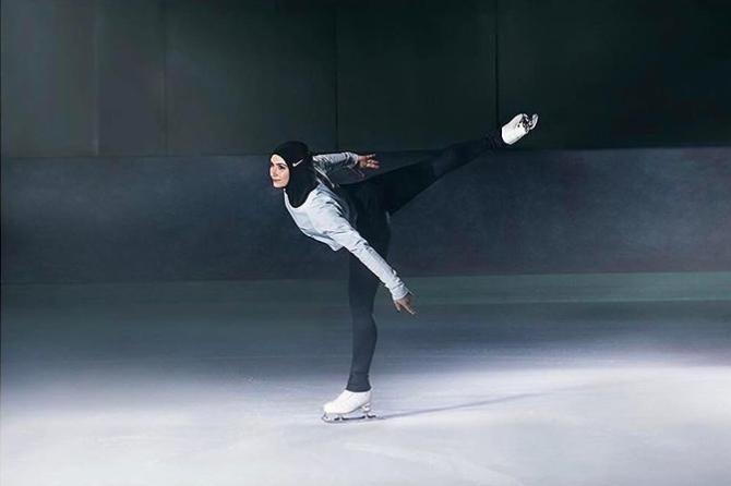 фигуристка из Арабских Эмиратов Захра Лари, участница зимних Олимпийских игр в Сочи.PNG