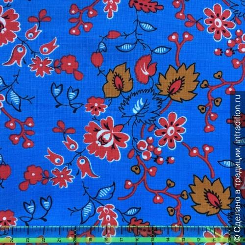 modern Ситец барановский голубой с цветами.jpg