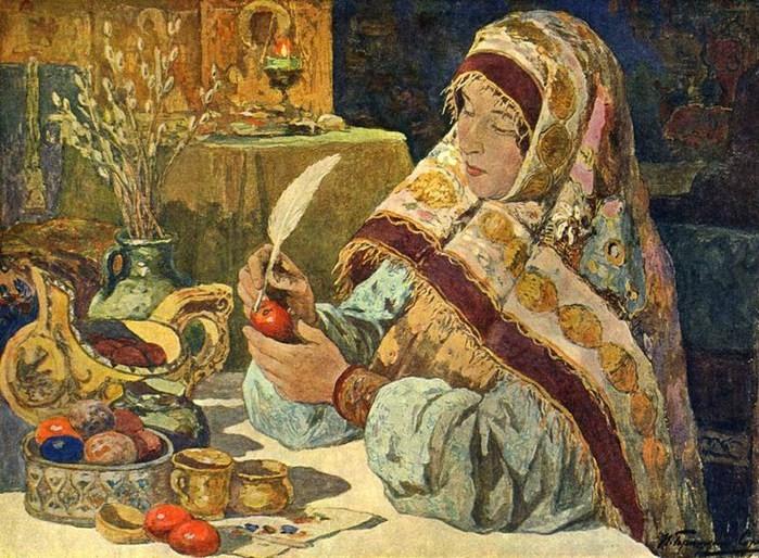 1917 before Горюшкин-Сорокопудов Иван Силыч  .  1873- 1954 Канун Пасхи в старину..jpg