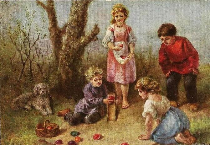 1850-1899 Транковский А.И. (вторая пол. XIX века) Катание яиц  .jpg