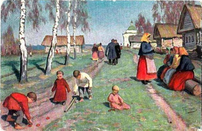 1917 before Михаил Маркианович Гермашев (Бубелло) (1867-1930) На Пасху..jpg
