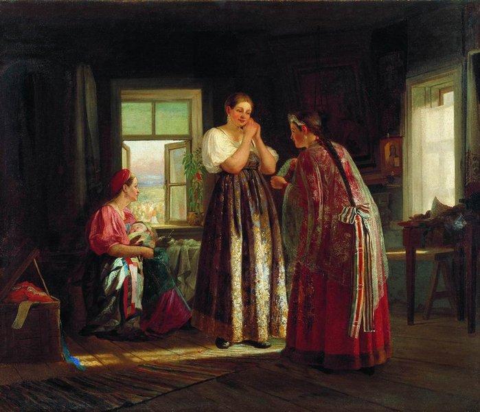 1869  В.М.Максимов Сборы на гулянье 1869 .jpg