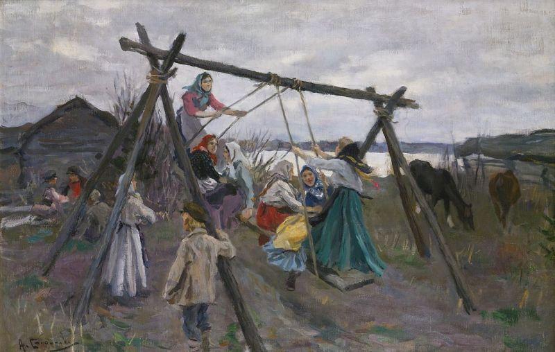 Степанов Алехей Степанович 1858 — 1923 .Качели  285212.jpg